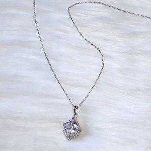 Charmed Aroma Art Deco Diamond Pendant Necklace